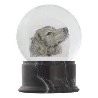 Bola De Cristal Con Nieve Perro mezclado de la raza por el villancico Zeock