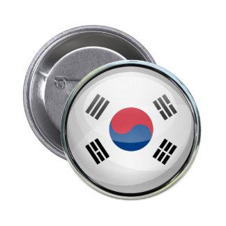 Bola de cristal de la bandera de la Corea del Sur Chapa Redonda 5 Cm