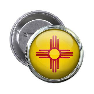 Bola de cristal de la bandera de New México Chapa Redonda De 5 Cm