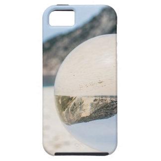 Bola de cristal en la playa griega arenosa funda para iPhone SE/5/5s