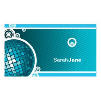 Bola de discoteca azul plantillas de tarjetas de visita