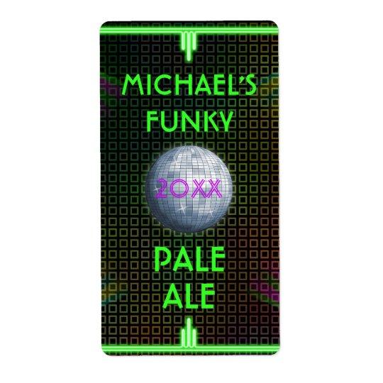 Bola de discoteca casera adaptable de los años 70 etiquetas de envío