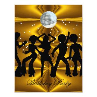 Bola de discoteca de la fiesta de cumpleaños de la invitación 10,8 x 13,9 cm