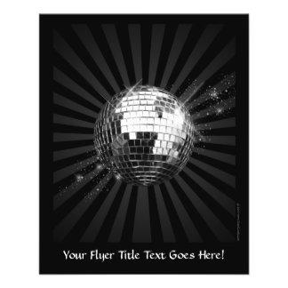 Bola de discoteca del espejo en negro folleto 11,4 x 14,2 cm