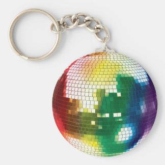 bola de discoteca del orgullo llavero redondo tipo chapa