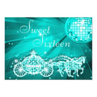 Bola de discoteca del trullo, princesa Coach y Invitación 12,7 X 17,8 Cm