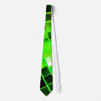 Bola de discoteca enrrollada verde corbatas personalizadas