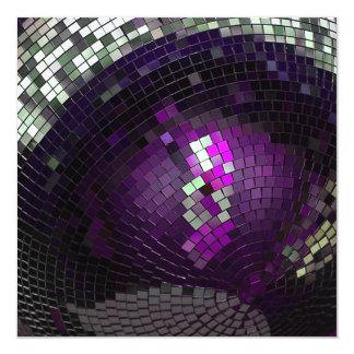 Bola de discoteca - invitacion personal