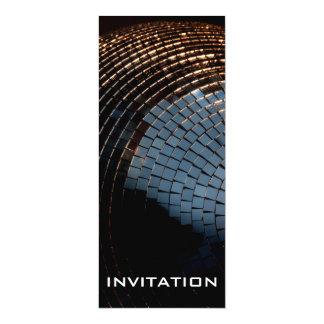 Bola de discoteca invitación 10,1 x 23,5 cm