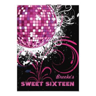 Bola de discoteca - invitación del dulce 16