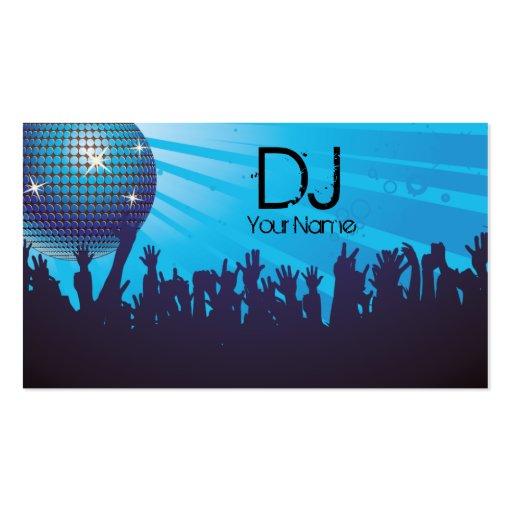 Bola de discoteca - negocio de DJ tarjeta-Azul Tarjetas Personales