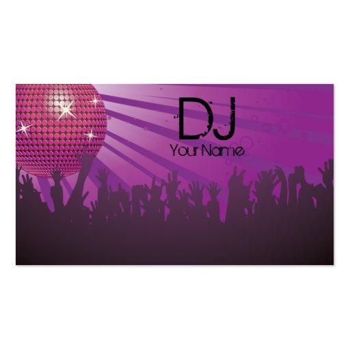 Bola de discoteca - negocio de DJ tarjeta-púrpura Tarjeta De Negocio