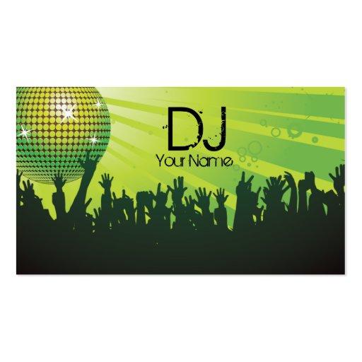 Bola de discoteca - negocio de DJ tarjeta-verde Tarjeta De Visita