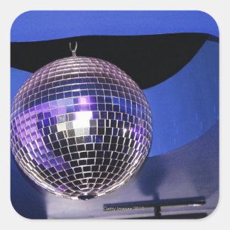 Bola de discoteca calcomania cuadradas personalizadas