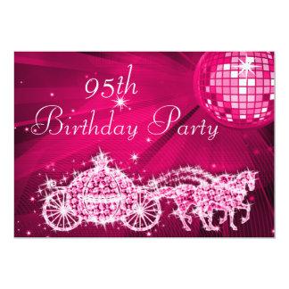 Bola de discoteca, princesa Coach y cumpleaños de Invitación 12,7 X 17,8 Cm