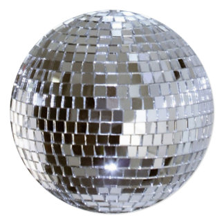 Bola de discoteca reflejada invitaciones personalizada