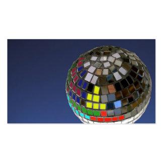 bola de discoteca plantillas de tarjeta de negocio