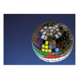bola de discoteca tarjetas de visita grandes