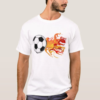 Bola de fuego de fútbol camiseta