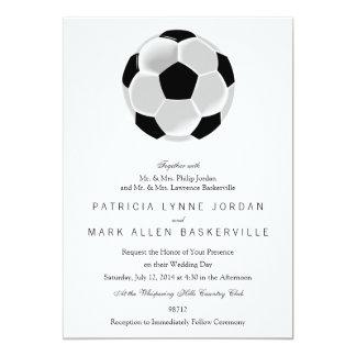 Bola de Futbol del fútbol del fútbol Invitación 12,7 X 17,8 Cm