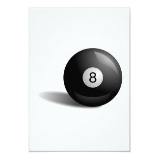 Bola de la piscina ocho invitaciones personales