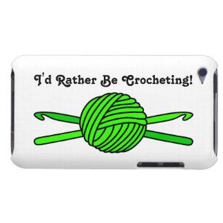 Bola de la verde lima de los ganchos del hilado y iPod touch Case-Mate cobertura