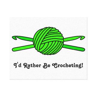 Bola de la verde lima de los ganchos del hilado y  impresiones de lienzo
