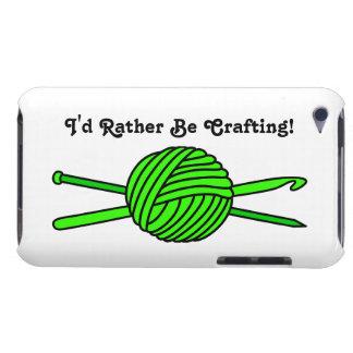 Bola de la verde lima del hilado (punto y Case-Mate iPod touch funda