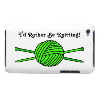 Bola de la verde lima del hilado y de las agujas Case-Mate iPod touch fundas