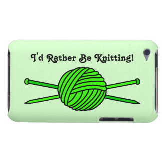 Bola de la verde lima del hilado y de las agujas Case-Mate iPod touch coberturas