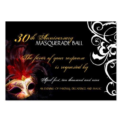 Bola de mascarada - mini tarjetas de contestación tarjetas personales