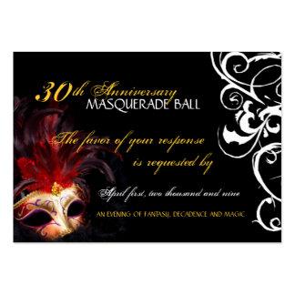 Bola de mascarada - mini tarjetas de contestación tarjetas de visita grandes