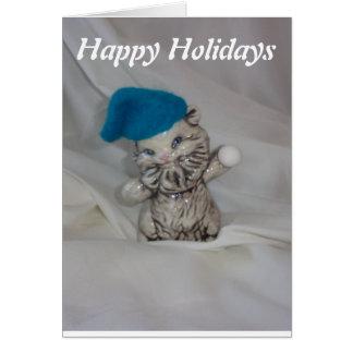 bola de nieve de los gatos de la tarjeta del