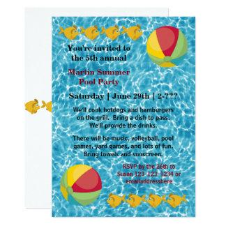 Bola de pescados de la piscina - invitación de la