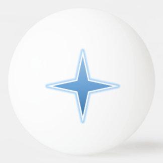 Bola de ping-pong azul de la chispa