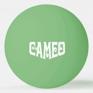 Bola de ping-pong con el logotipo blanco del