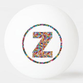 Bola de ping-pong del ARTE ZZZ 3* del ALFABETO del Pelota De Ping Pong