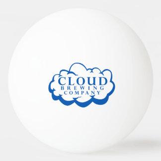 Bola de ping-pong del logotipo de Cloud Brewing