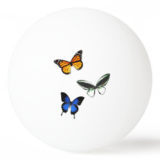 Bola de ping-pong del modelo de mariposa