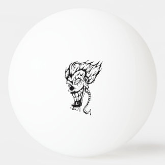 Bola de ping-pong malvada del payaso