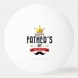 Bola de ping-pong que desea día de padres feliz