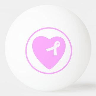 Bola de ping-pong rosada de la conciencia del