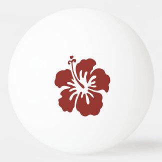 Bola de ping-pong tropical de la flor del hibisco