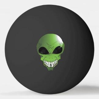 Bola de ping-pong verde de la estrella del