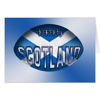 Bola de rugbi de Escocia Tarjeta