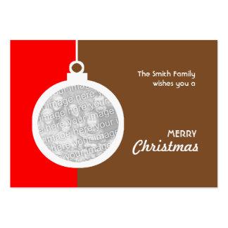 Bola decorativa del navidad tarjetas de visita grandes