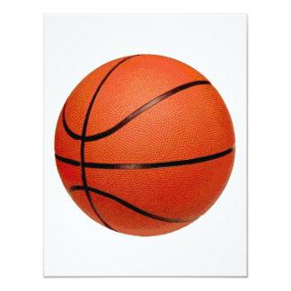 Bola del baloncesto invitación 10,8 x 13,9 cm