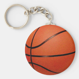 Bola del baloncesto llavero redondo tipo chapa