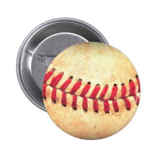 Bola del béisbol del vintage chapa redonda 5 cm