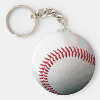 Bola del béisbol llavero redondo tipo chapa